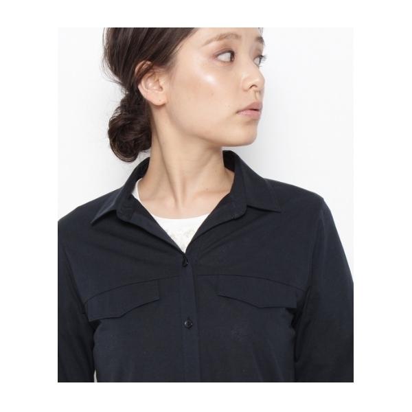 ロング開襟シャツ