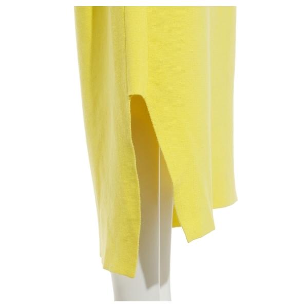 【emmi atelier】コットンカシミヤミラノリブスカート