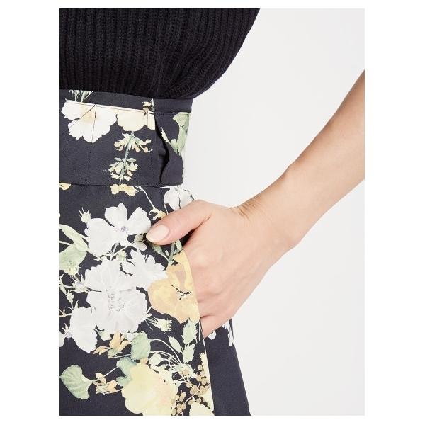 総柄プリント 巻きスカート