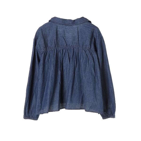 ・ライトオンスデニムギャザーシャツ