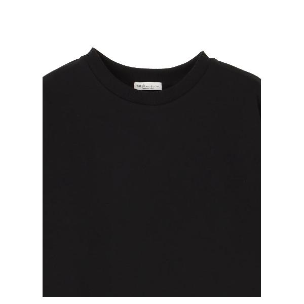 ・シャツ袖ドッキングスウェット
