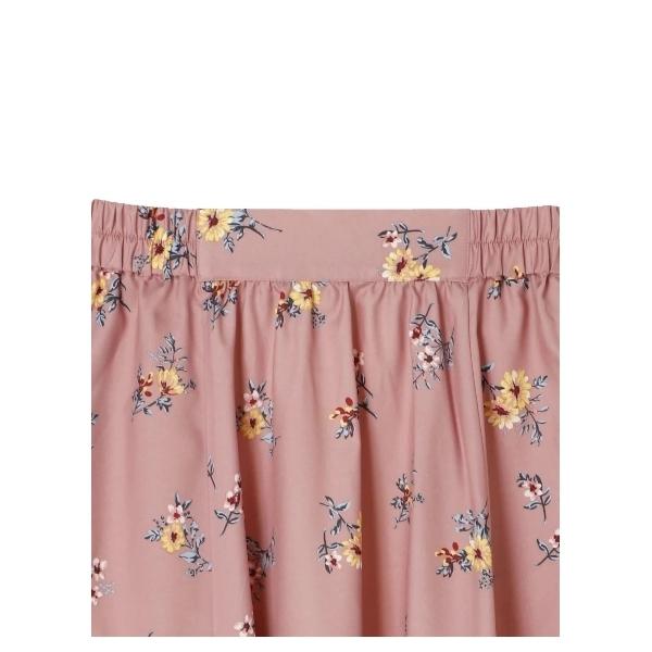 ・サイドイレヘムフラワースカート