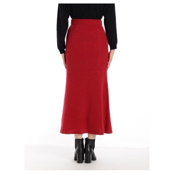 7GGアンゴラ混ニットロングスカート