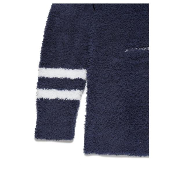 【GELATO PIQUE HOMME】'ジェラート'サガラ刺繍ショールカーディガン