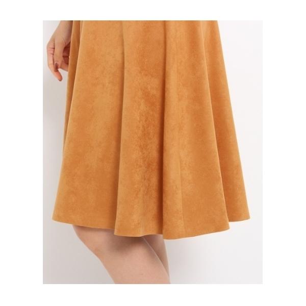 【洗える】[L]フェイクスエードスカート