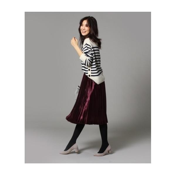 【WEB限定】ベロアプリーツスカート
