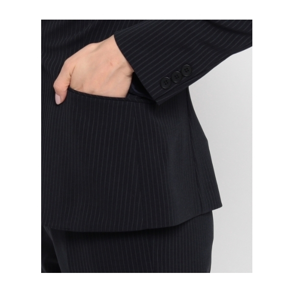[L]ピンストライプテーラードジャケット
