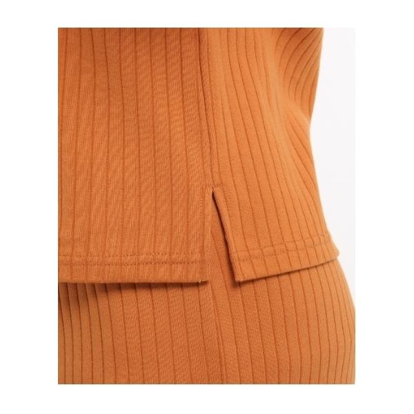 (洗える)[L]コットンリブスカートセットアップ