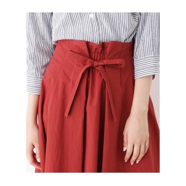 【前後2WAY】リボン付きフレアスカート
