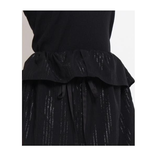 ラメストライプスカート