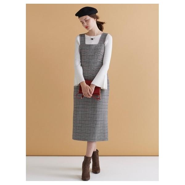 グレンチェックタイトジャンパースカート