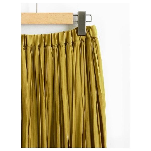 ビンテージサテンプリーツマキシスカート
