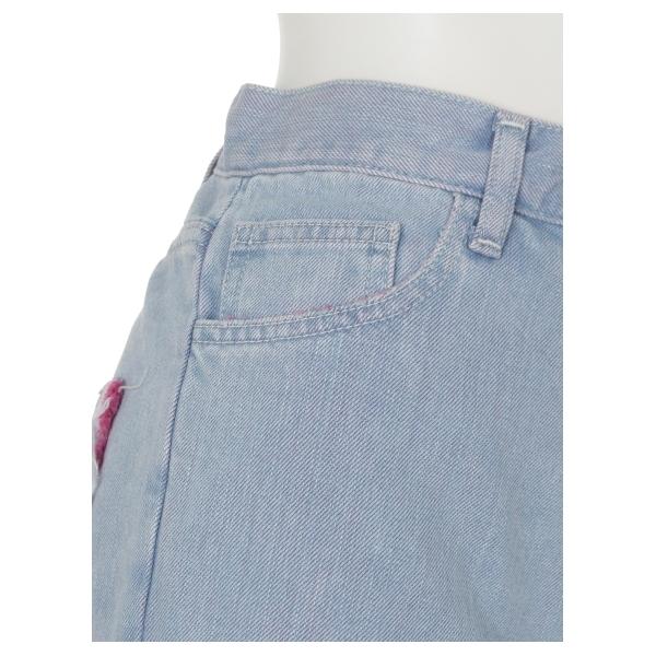 damaged denim pants