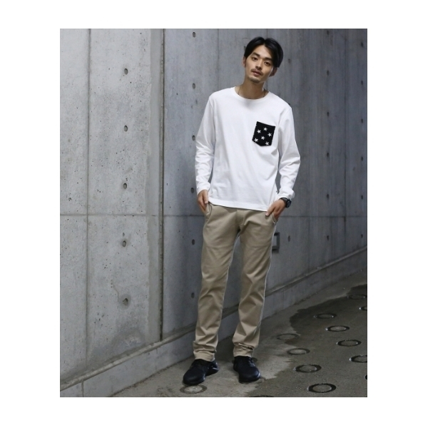 スターニットポケット ロングスリーブTシャツ