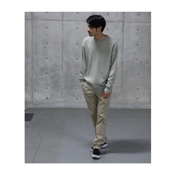 【ビッグシルエット】袖スター刺繍 クルーネックスウェット