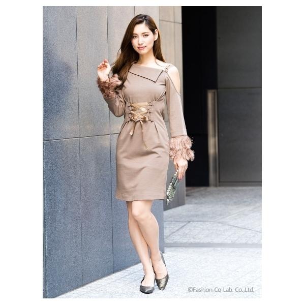 アシメショルダーワンピース[DRESS/ドレス]