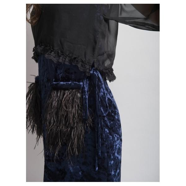 レイヤーフェザーワンピース[DRESS/ドレス]