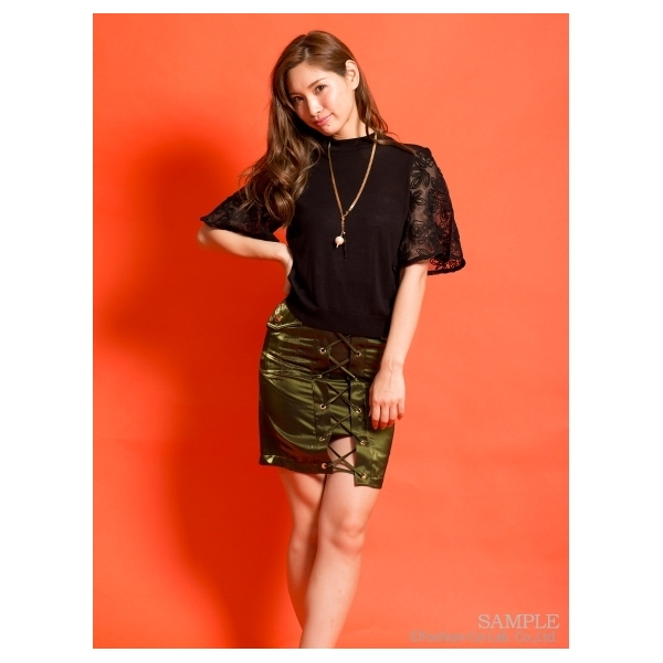 レースアップスカート[DRESS/ドレス]
