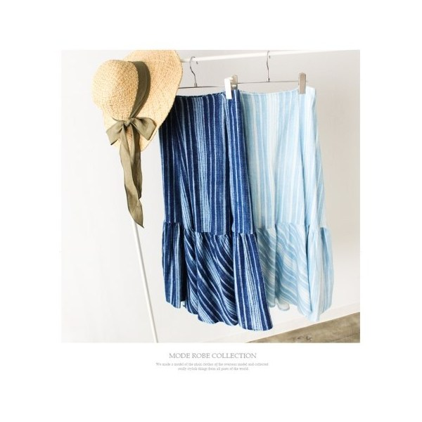デニムストライプスカート
