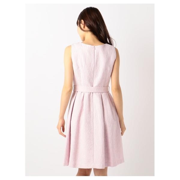 スカラネックジャガードドレス
