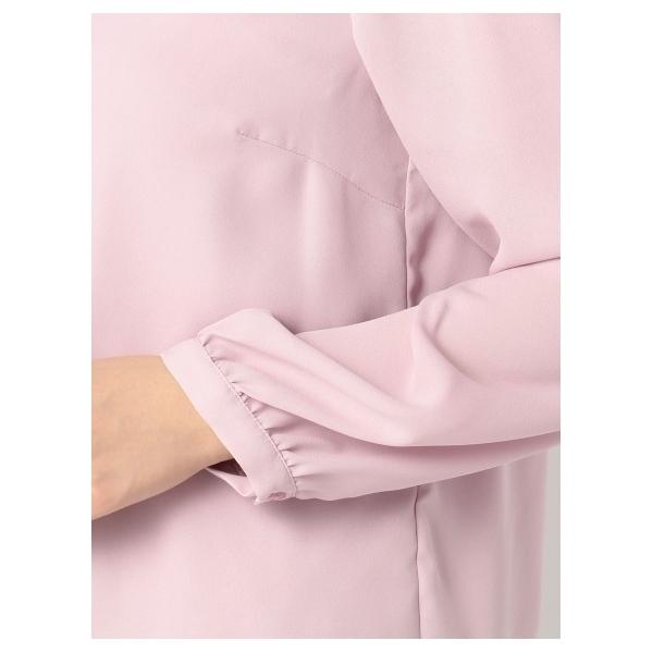 襟装飾リボン付きブラウス