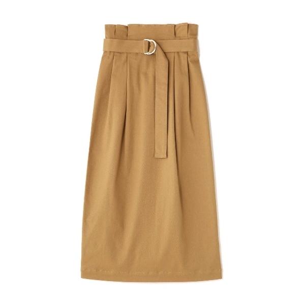 サッシュベルト付チノタイトスカート