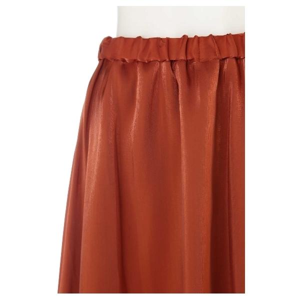 メタルサテンギャザースカート