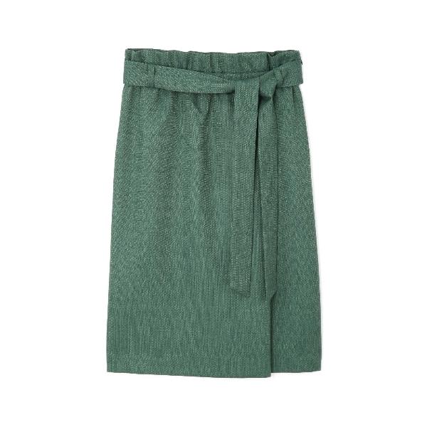◆(WEB限定)リネンライクハイウエストスカート