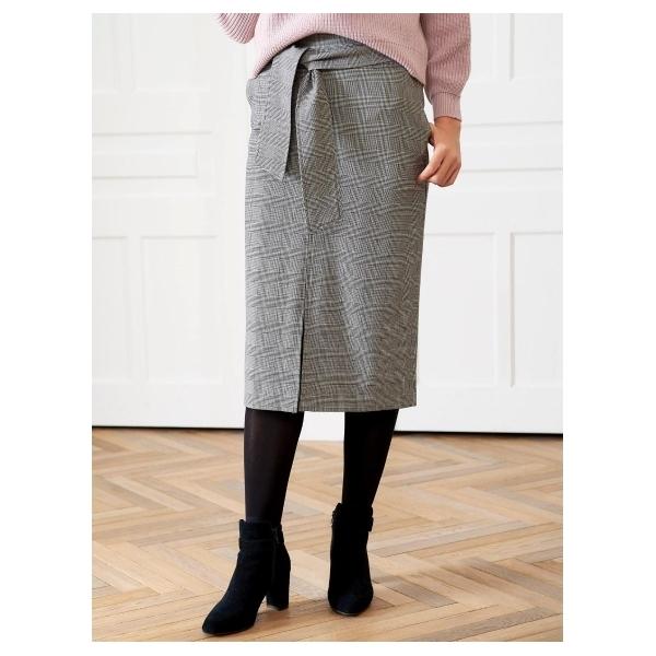 ウエストベルトロングタイトスカート