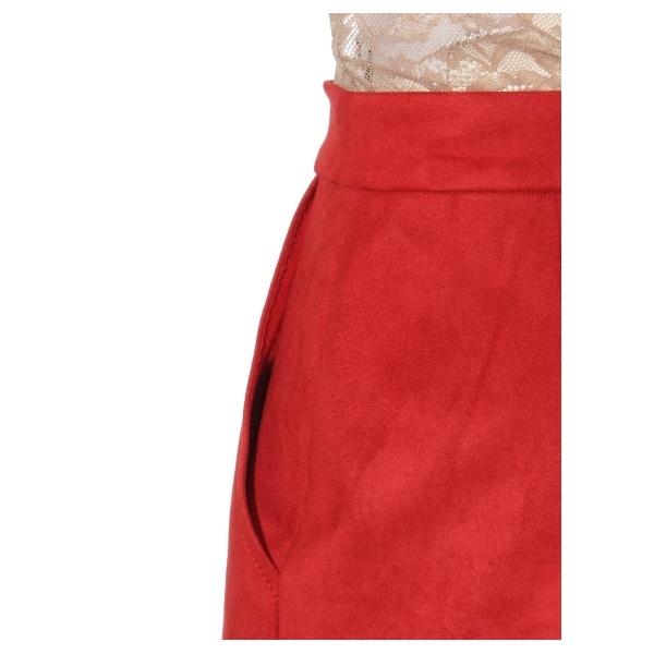 スエード台形ミニスカート