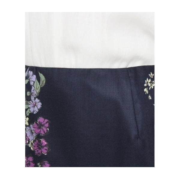 〔洗える〕フレグラントオリーブ柄パネルスカート