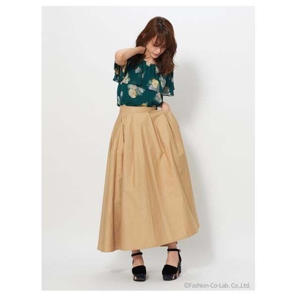 ツイルボリュームスカート