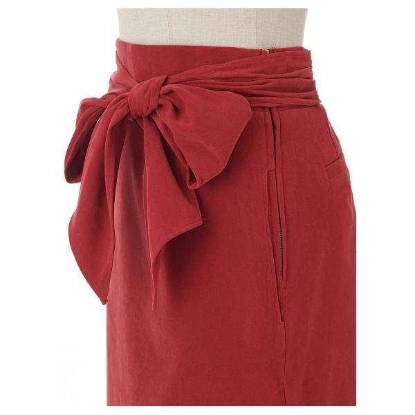 Iラインウエストリボンスカート