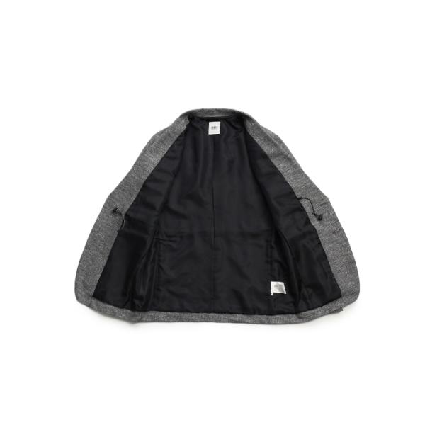 CS_ストレッチメランジプリントジャケット