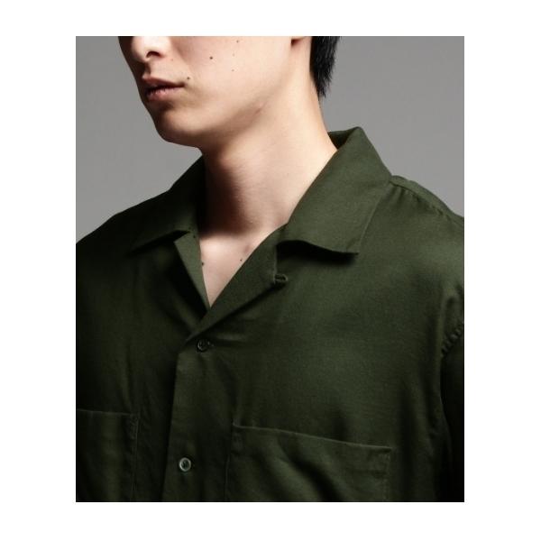 テンセルウール開襟シャツ