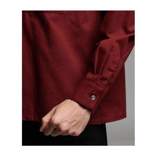 THERMOLITE(R)起毛オープンカラーシャツ