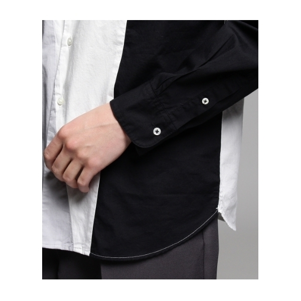 ブロードパレットバンドカラーシャツ