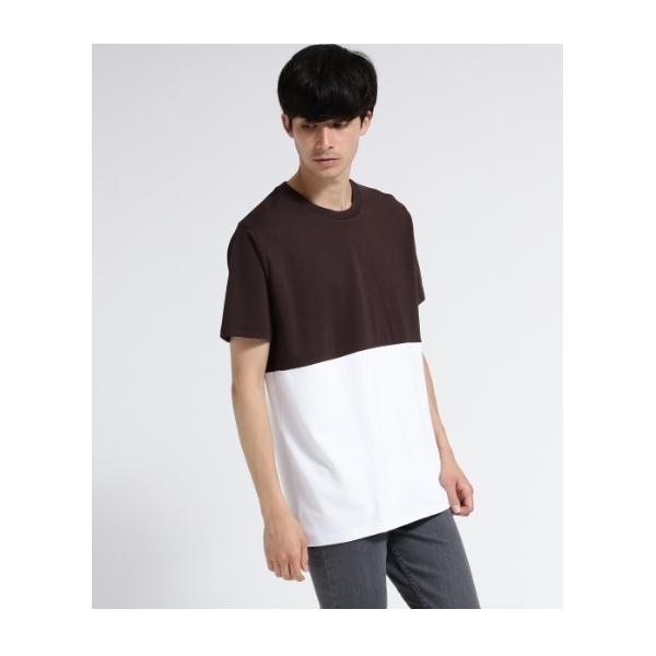 バイカラー半袖Tシャツ