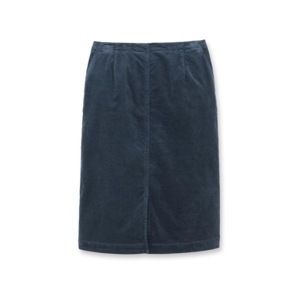 【洗える】フロントスリットベロアスカート