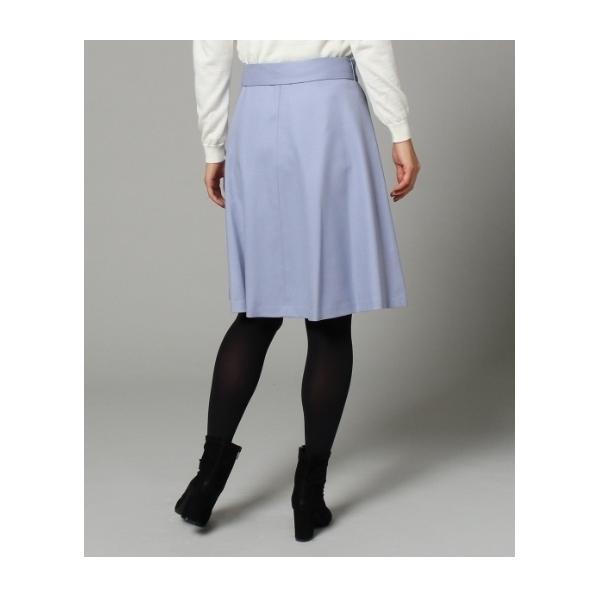 [L]ひざ丈Aラインスカート