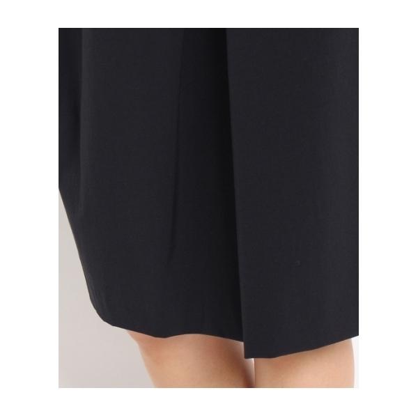 [L]〔洗える〕ウエストリボンコクーンスカート