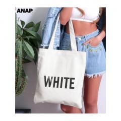 【ANAP】キャンバスカラーロゴトートバッグ