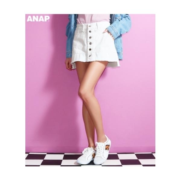 【ANAP】インパンツ付ツイルスカート
