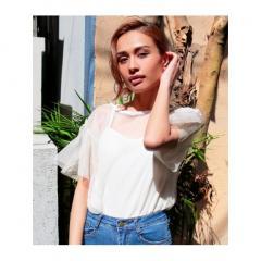 <LOHACO> 【ANAP】インナー付ドットチュールTシャツ画像