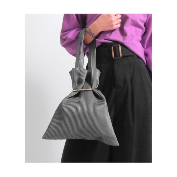 【Alluge】リングデザインプリーツバッグ