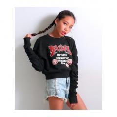 <LOHACO> 【ANAP GIRL】シャーリングスウェットトップス画像