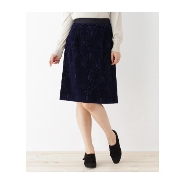 ベロア風レーススカート