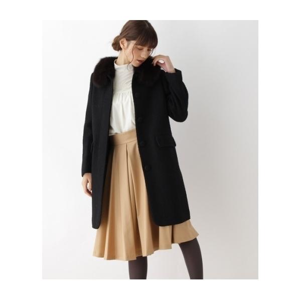 【S・Lサイズあり】ファー衿ロングコート