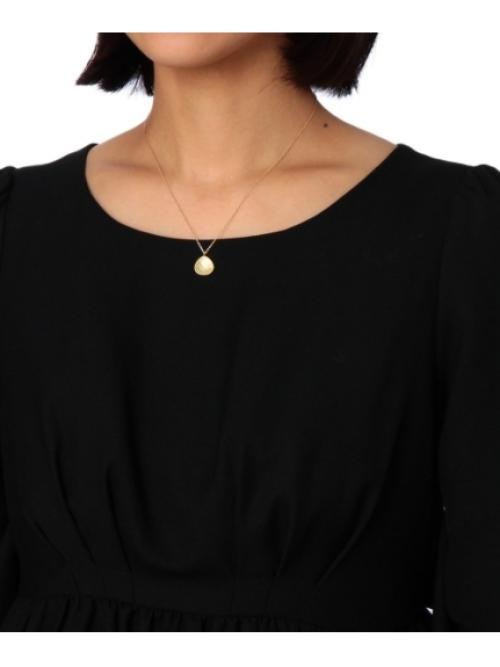 黄蝶貝×クォーツマロン形 ネックレス