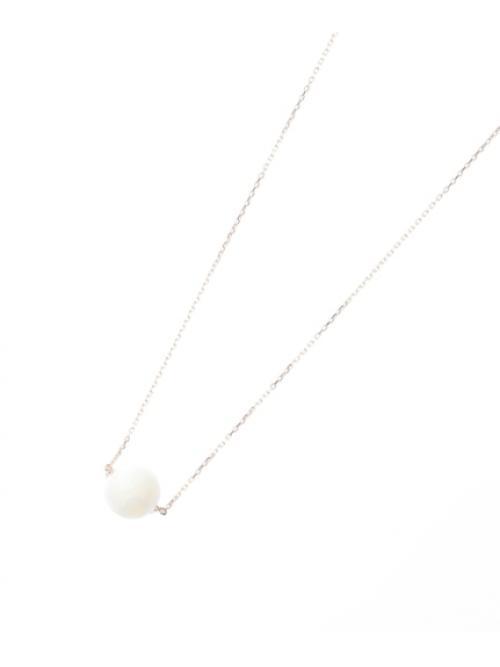カラーボール(シロチョウガイ) ネックレス